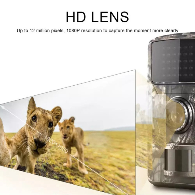 DL-100 Hunting Trail Camera Wildlife Camera Night Vision Motion Activated Outdoor Forest Camera Trigger Wildlife Scouting Camera 3