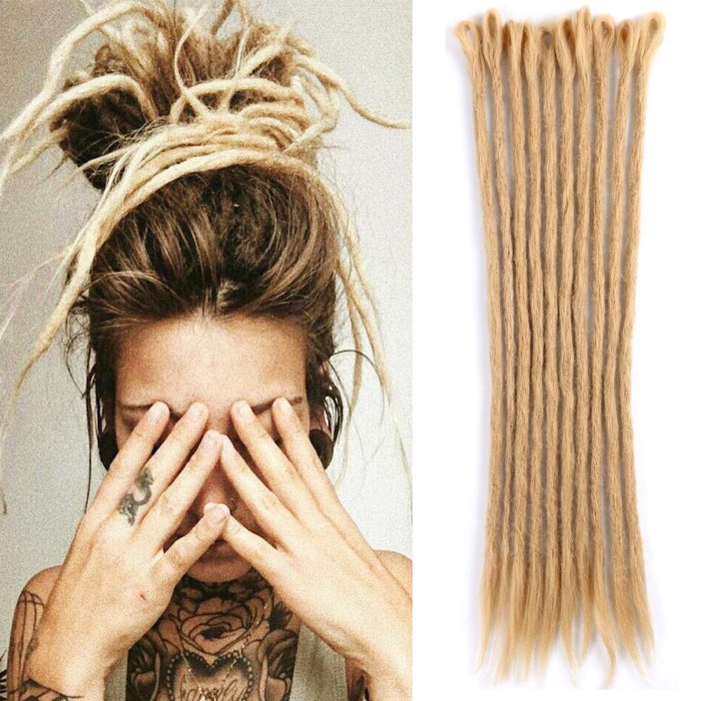 Mtmei Hair Handmade Dreadlocks Hair Extensions Reggae Hair Hip-Hop Style Faux Locs Crochet Hair Crochet Braids 1 Strands/7g/Pack