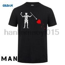 100% algodão o pescoço impresso camiseta blackbeard bandeira tshirt blackbeard pirata camisa