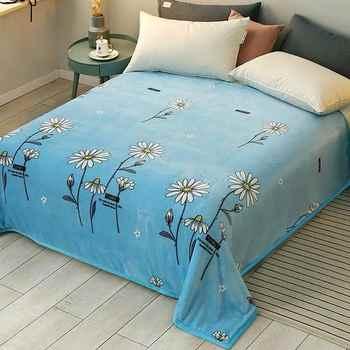 2020 Soft Warm Coral Fleece Blanket Winter Sheet Bedspread Sofa Plaid Throw 3 Size Light Thin Mechanical Wash Flannel Blankets - Category 🛒 Home & Garden