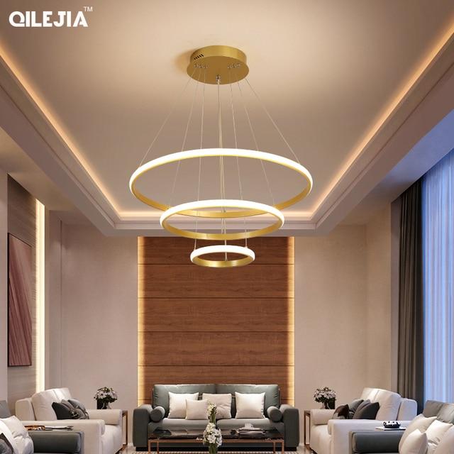 Lampadario Oro/caffè/Bianco Per Lliving sala Da Pranzo Cucina Camera di Figura rotonda Lampadario Apparecchi di Illuminazione di illuminazione per Interni