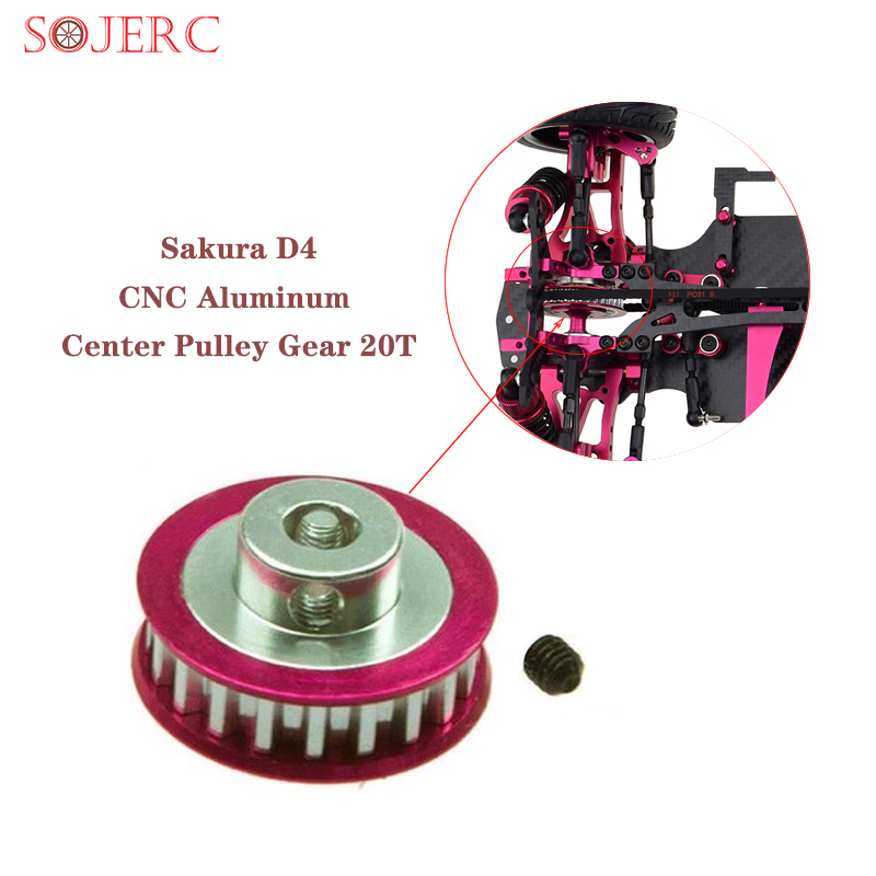 SOJERC aluminum Center <font><b>Pulley</b></font> Gear T20 use for 3Racing Sakura D3 / D4 sport <font><b>car</b></font> AWD RWD #3RAC-3PY/20 <font><b>Pulley</b></font> Gear image