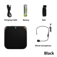 Portable Mini Audio Voice Amplifier Megaphone Booster With Wired Microphone Loudspeaker Speaker MP3 Teachers Voice Amplifier