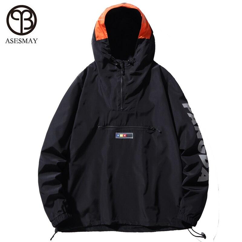 Asesmay куртка с капюшоном Для мужчин новинка в стиле пэтчворк и КолорБлок, пуловер, куртка, модный тренировочный костюм пальто Для мужчин в сти... - 2
