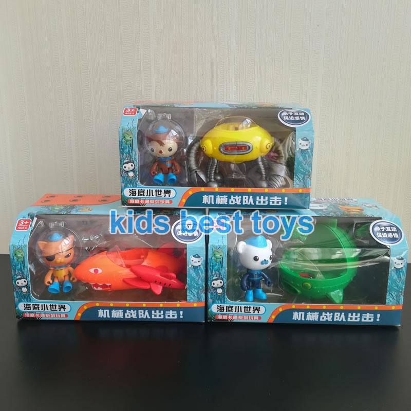 Novo octonauts GUP-A c d veículos barco navio brinquedos capitão barnacles kwazii shellington crianças melhor presente