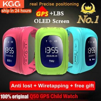 Anti Lost Q50 Smart Watch OLED Child GPS Tracker SOS Monitor Positioning Phone Kids GPS Baby Watch IOS Android Location Finder 1