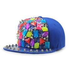 GBCNYIER Cool Dance Show Hat Rivet Hiphop Sport Sun Hat Outdoor Leisure Parkour Cap Fashion Young Visor