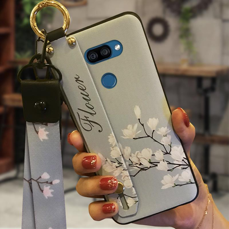 Anti-Knock Silicone Phone Case For LG K40S Kickstand Soft Case Back Cover Durable Anti-Dust