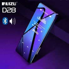 Bluetooth mp3 player ruizu d28 leitor de música 8g walkman portátil com built in alto falante suporte fm gravador e book relógio pedômetro