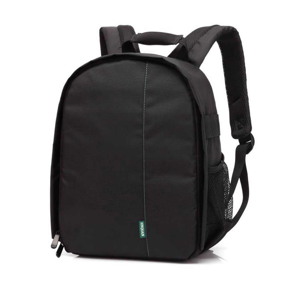 Multi-funcional impermeable dslr foto de cámara lente bolsa mochila gran capacidad portátil viaje para fotografía exterior