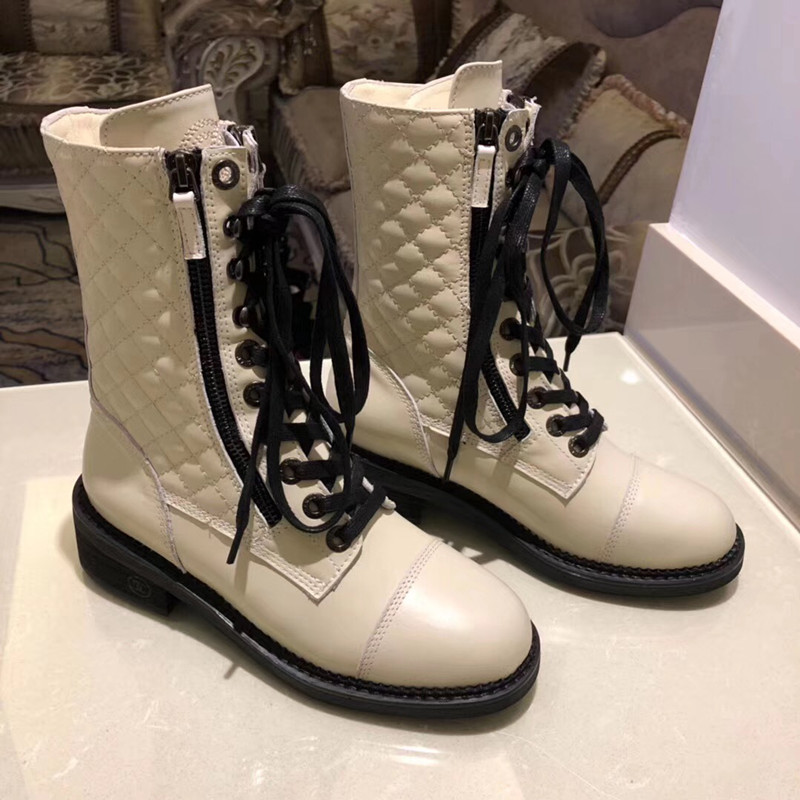 Г., новые модные повседневные женские ботинки «Мартенс» удобные вязаные дышащие женские ботинки на шнуровке женская обувь на толстой подошве - Цвет: 2