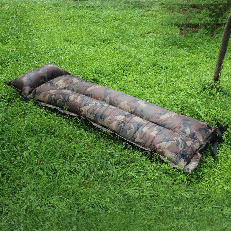 Kind-Hearted Outdoor Camo Inflatable Camp Moisture-proof Sleeping Mat Automatic Inflatable Mattress Ultra-light Portable Camping Single Mat Bringing More Convenience To The People In Their Daily Life