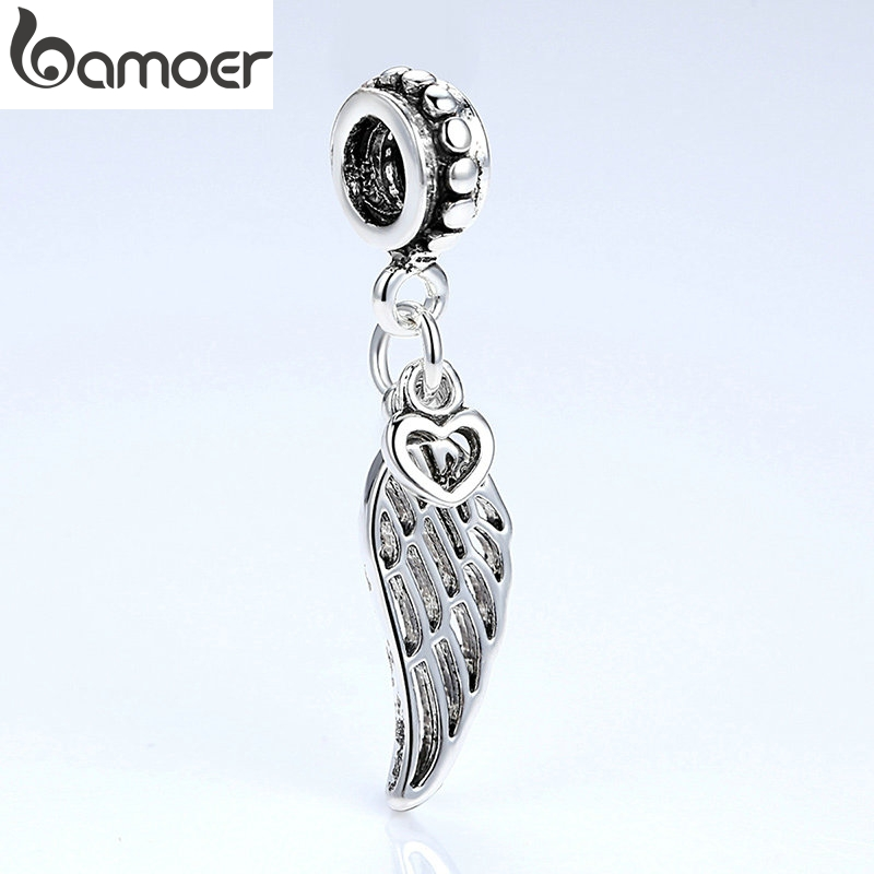 TOP Quality Openwork Wing Charms Silver Color European Charms & Pendant for Bracelet Beads amp Jewelry Findings PA5296