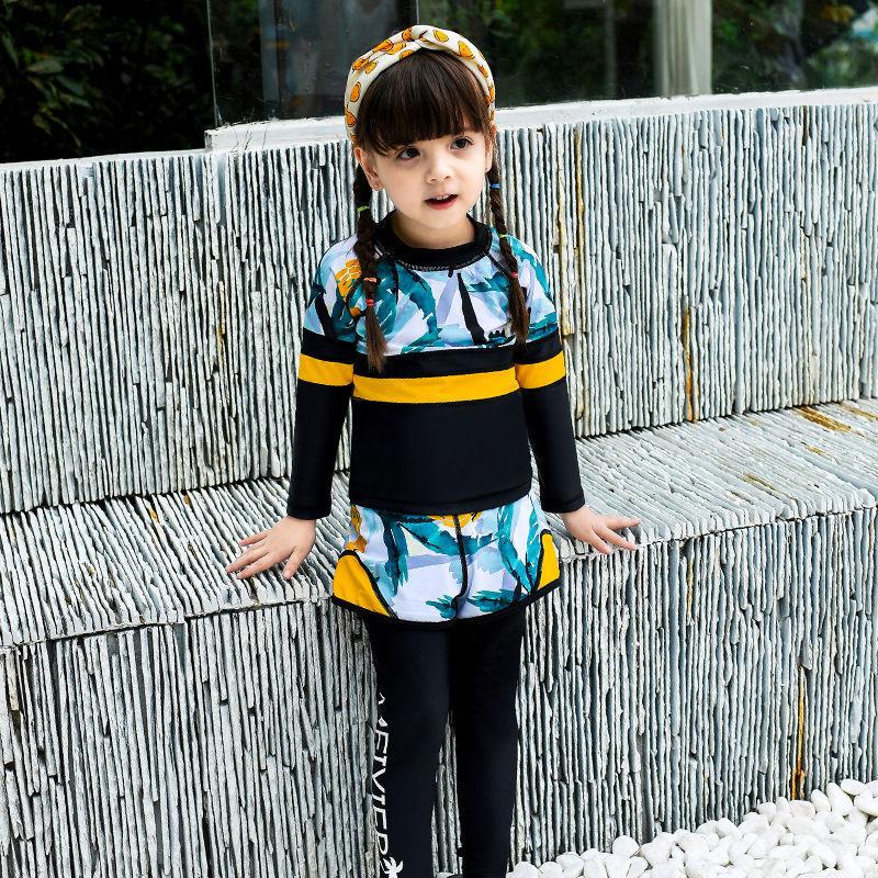 2019 New Style Children Diving Suit Men And Women Children Outdoor Long Sleeve Siamese Swimsuit Swimwear 931/951