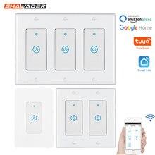 Akıllı WiFi ışık dokunmatik duvar anahtarı abd Interruptor kablosuz elektrik ses kontrolü uzaktan Tuya Smartlife Alexa Google ev