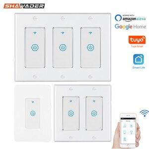 Image 1 - Smart WiFi Licht Touch Wand Schalter UNS Interruptor Drahtlose Elektrische Voice Control Fernbedienung durch Tuya Smartlife Alexa Google Hause
