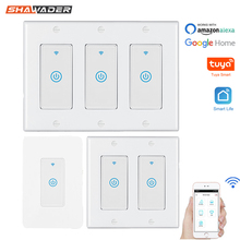 Smart WiFi Light Touch Wall Switch US Interruptor Wireless Electrical Voice Control Remote by Tuya Smartlife Alexa Google Home