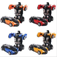 Child collision inertia deformation car model Impact toy A boy favorite gift