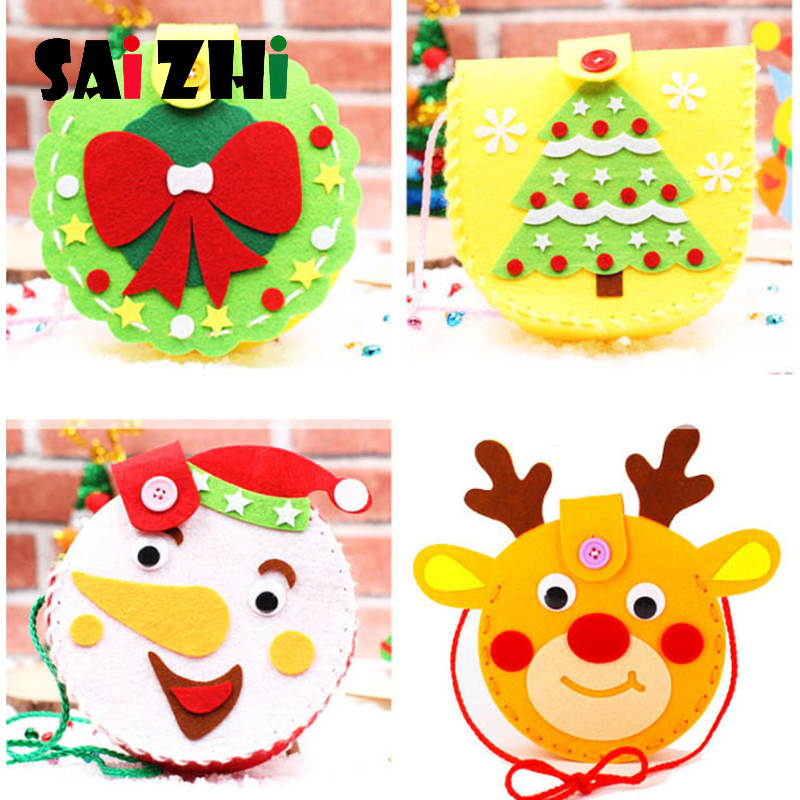 Saizhi Non-woven Cartoon Backpack Diy Creative Christmas Handmade Backpack Handcraft Material Educational Toys Kindergarten Kids