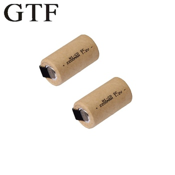 GTF SC 2200mAh 1.2V battery NI-CD rechargeable batteries for electric screwdrivers electric drills real capacity Sub C battery high quality battery rechargeable battery sub battery sc ni cd battery 1 2 v with tab 3000 mah for electric tool