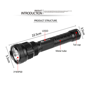 Image 2 - 3 x XHP50 Mạnh Đèn Pin LED LED Chống Thấm Nước Đèn Pin chống Cháy Nổ hợp kim nhôm Cho ngoài trời ánh sáng chuyên nghiệp