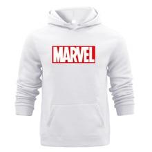 Winter Sweat Warm Woman Men Hoodies Hooded Joker Marvel Sweatshirts Light Tops Wear with Pocket Pullover All-match Print Fleece