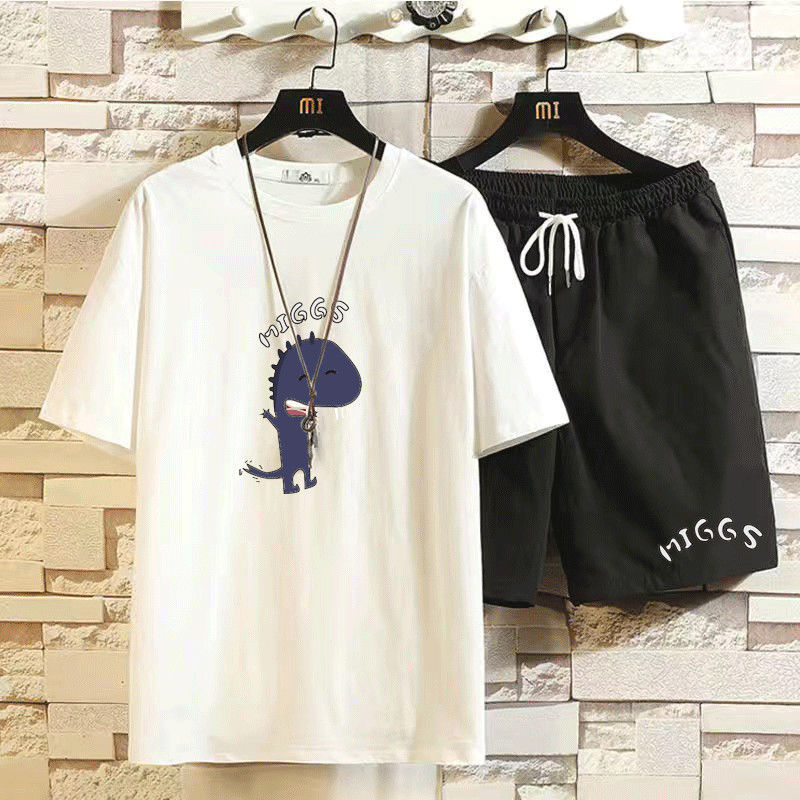 12 Styles Men's Sets Hip hop Clothes Streetwear Summer Outfit Male T-shirt and Pant Two Pieces Hip-hop Set Casual Plus Size 5XL