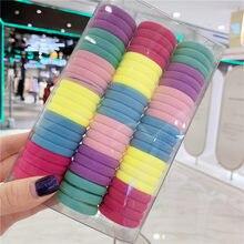 3cm Bunte Mädchen Elastische Haar Bands Für Mädchen Kinder 66Pcs Großhandel Gummi Halter Krawatte Gummiband Kinder Stirnbänder geschenk