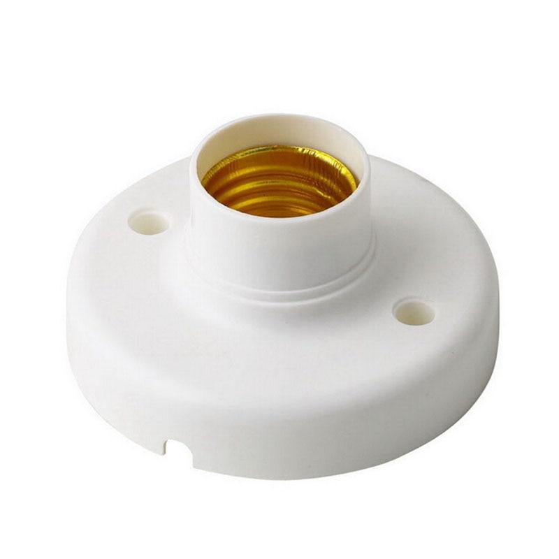 1Pc E27 Lamp Holder Flame Retardant PBT Lamp Bases Round Lamp Bulb Socket Bases White Lamp Holder High Quality