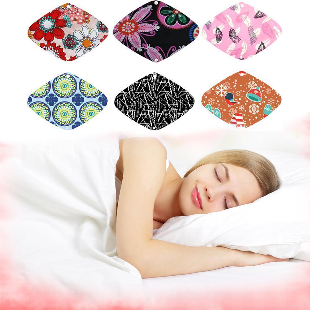 Random Color 1PC Washable Reusable Sanitary Towel Sanitary Pad Napkin Menstrual For Female J7I6