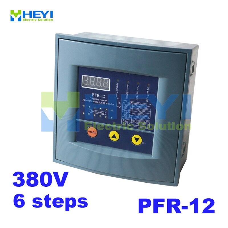 Controlador de compensación de potencia reactiva JKW58 controlador de potencia reactiva compensación PFR RVT 6 pasos 380v para factor de potencia-in Controladores de potencia reactiva from Mejoras para el hogar on AliExpress - 11.11_Double 11_Singles' Day 1