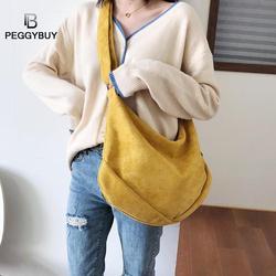 Leather Small Messenger Bag For Women 2019 Winter Vintage Solid Color Crossbody Shoulder Bag Large Shoulder Messenger Bag