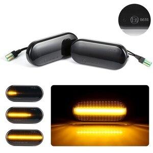 Image 3 - Indicatore di direzione laterale auto per VW Bora Golf 3 4 Passat 3BG Polo SB6 lampeggiante acqua corrente ambra fumo LED indicatore di direzione dinamico