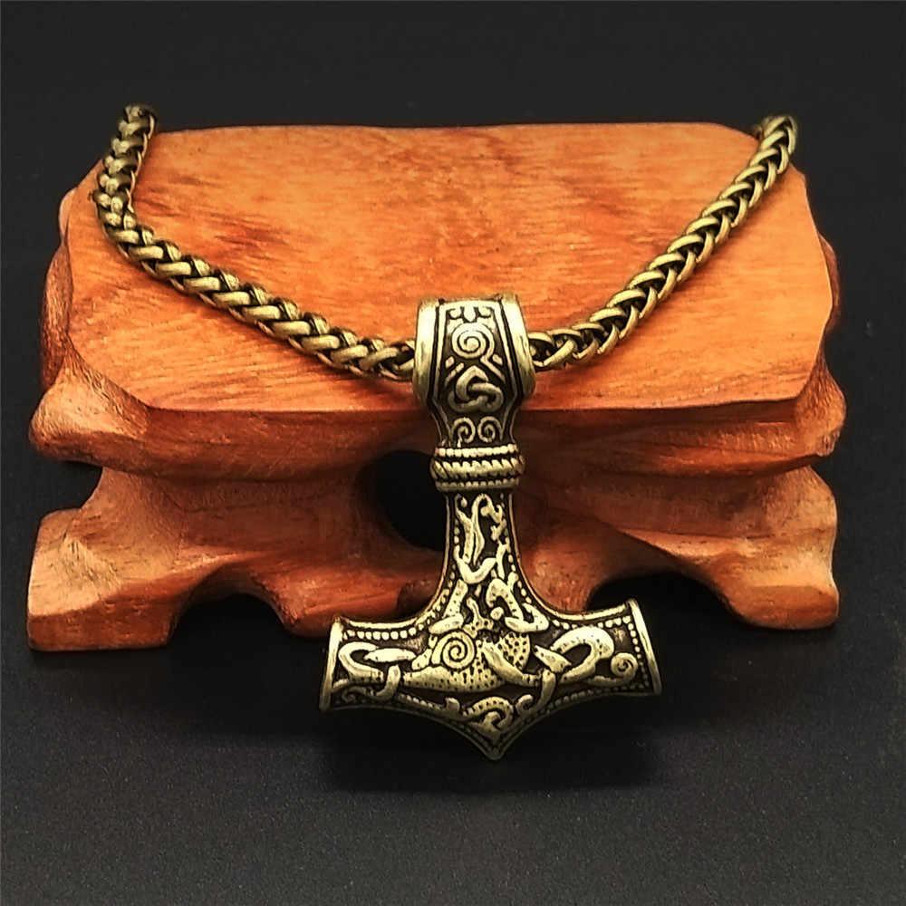 Thor's hamer mjolnir hanger ketting Mannen Vrouwen viking scandinavische Ketting Sieraden Drop Shipping