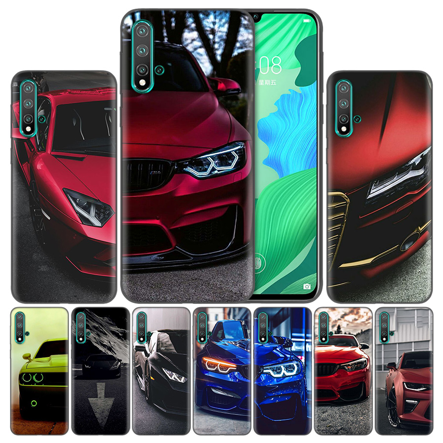 <font><b>Blue</b></font> Red for Bmw Luxury Phone <font><b>Case</b></font> For Huawei <font><b>Honor</b></font> 8A 8C 8S 8X 9X <font><b>9</b></font> 10 20 Pro <font><b>Lite</b></font> Play 20i 7C TPU Silicon Cover Shell image