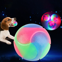 Interactive-Rubber-Balls Chewing-Toy Rainbow Bite-Resistant for Pet-Dog 5cm Magic-Lighting