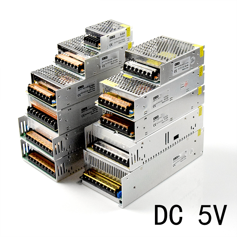 DC <font><b>5V</b></font> Switching <font><b>Power</b></font> <font><b>Supply</b></font> 4A <font><b>5A</b></font> 6A 10A 20A 60A <font><b>Power</b></font> <font><b>Supply</b></font> Switching <font><b>Power</b></font> AC 110V 220V To DC <font><b>5V</b></font> For Led Strip Lights image