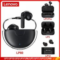 Orijinal Lenovo LP80 LP40 LP1 LP1S LP2 LP3 LP6 LP7 LP11 LP12 BT 5.0 kulaklık Mini kablosuz kulaklık su geçirmez spor kulaklıklar