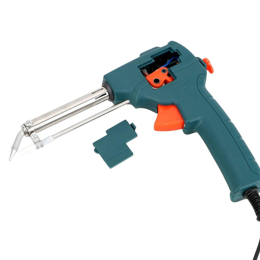 Image 3 - NICEYARD 110V/220V 60W Tin Soldering Iron Pump Welding Tool Handheld Electric Soldering Iron EU/US Plug Automatic Send Tin GunElectric Soldering Irons   - AliExpress