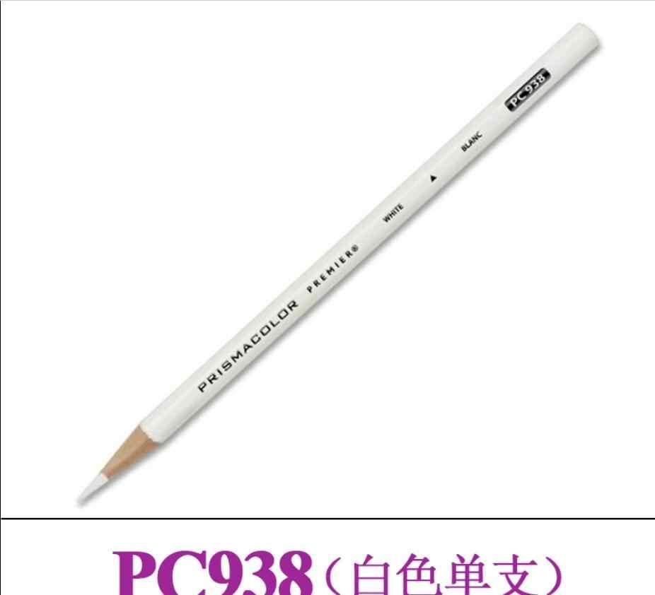 PC935 PC938 blanco negro color único lápiz de dibujo lápiz graso 3,8 MM suave core pintura lápiz para Sanford Prismacolor aceite de lápiz