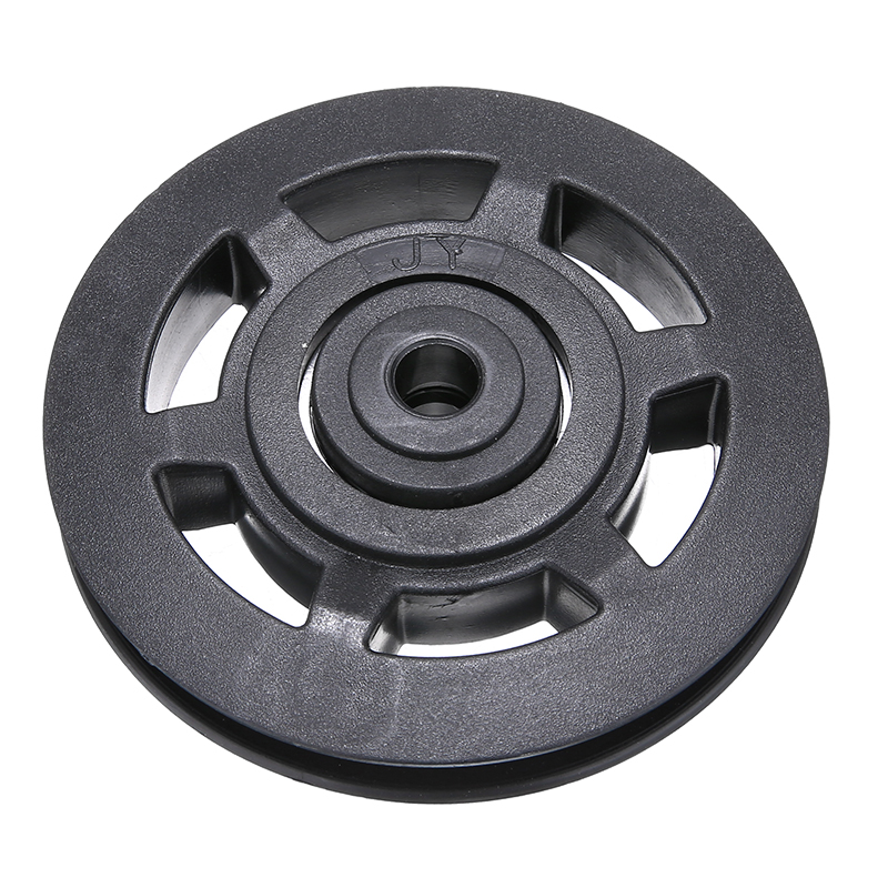 Durable ABS Material Universal 95mm Black Wearproof Bearing Pulley Wheel Cable Gym Sports Equipment Part image