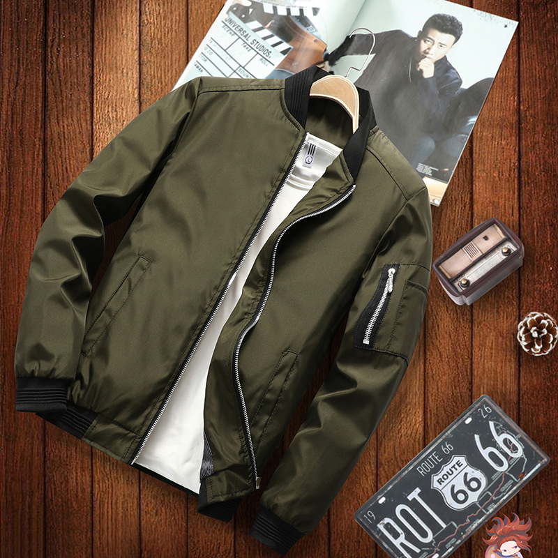 Fashion Jacket Coat Baseball Hip-Hop Japan-Style Casual New Smooth Men