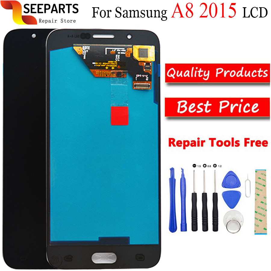 Super AMOLED LCD Display For <font><b>Samsung</b></font> Galaxy A8 2015 A800 <font><b>A8000</b></font> A800F LCD Display Touch Screen Digitizer Assembly image