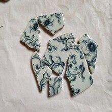 500g Unregelmäßigen Mosaik Machen Kreative Keramik Mosaik Fliesen DIY Hobby Wand Handwerk Dekoration Blau und Weiß Porzellan Fliesen Stück