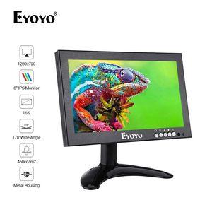 Image 1 - Eyoyo em08g 8 Polegada monitor pequeno hdmi, monitor portátil vga, tela cctv lcd 1280x720 16:9 ips visor do bnc av/vga
