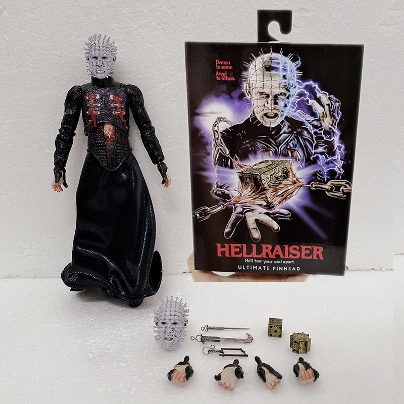 18cm 7inch NECA Hellraiser Figure He'll Tear Your Soul Apart Ultimate Pinhead Action Figures Collectable Model Toy Gifts
