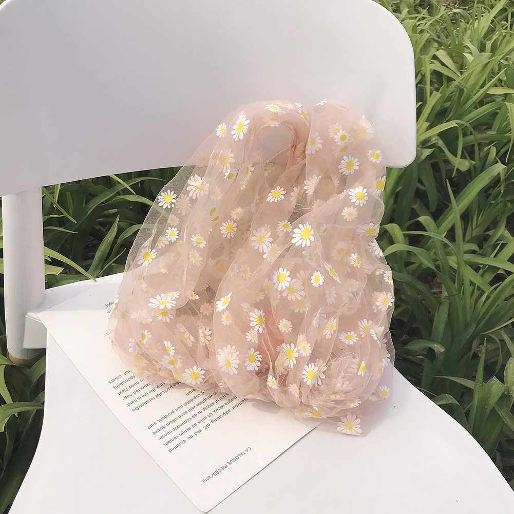 Mùa Xuân Năm 2020 Nữ Nhỏ Trong Suốt Túi Lưới Túi Vải Hoa Cúc Túi Xách Thêu Cao Cấp Eco Túi Trái Cây Ví Dành Cho Bé Gái
