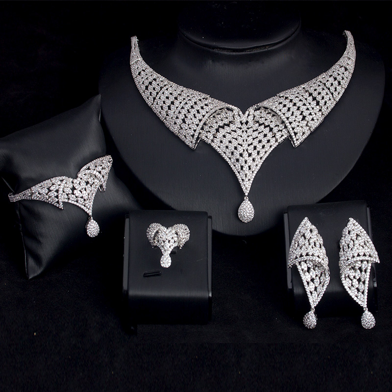 BRIDETALK 4PCS Big Luxury sets AAA Cubic zirconia jewelry for women wedding & engagement party Middle East Free shipping