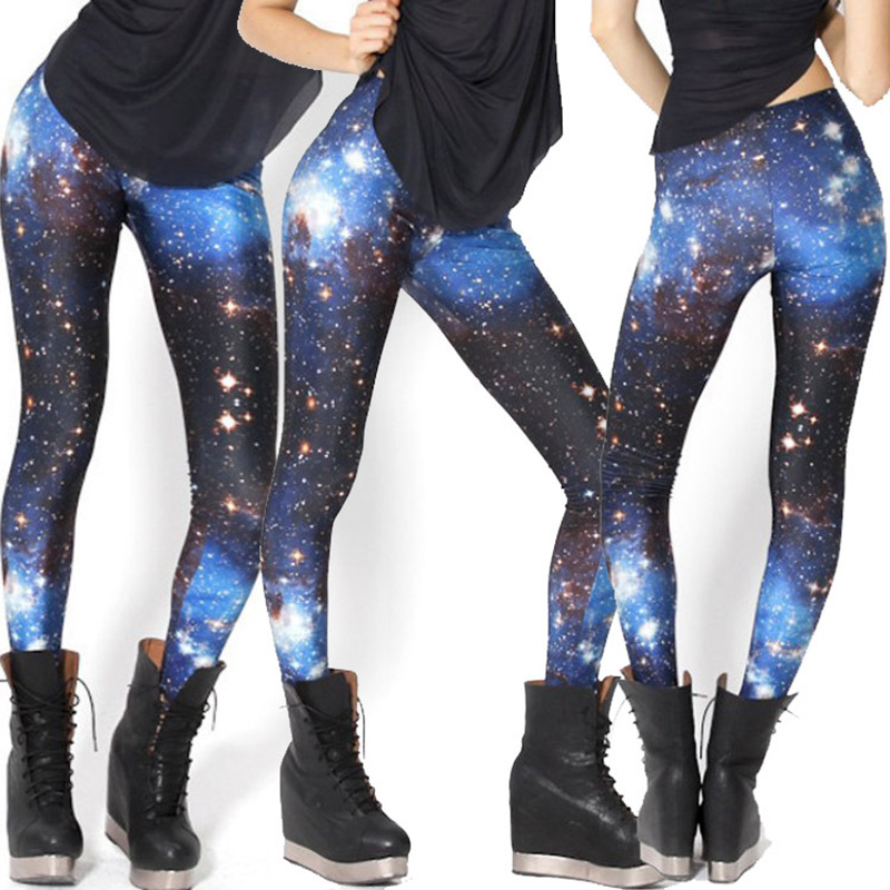 Star Print Galaxy Workout Winter Leggings Polyester Ankle-length Standard Leggings 2020 Just Do It Women Ladies Fashion
