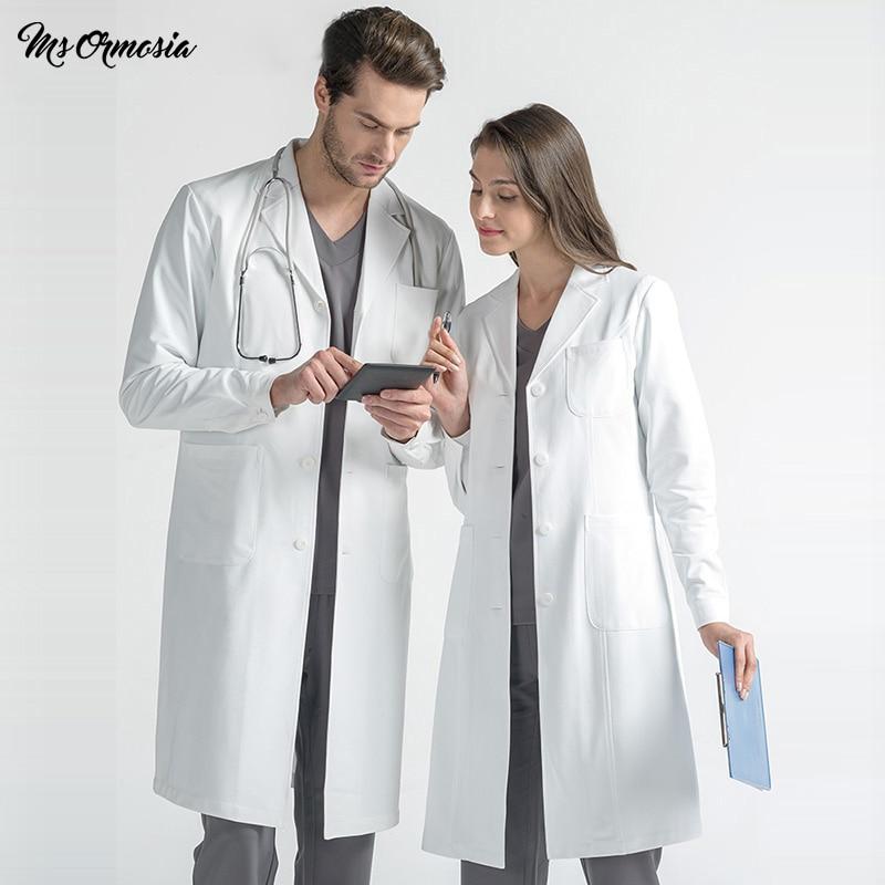 MSORMOSIA High Quality Ladies Medical Robe Medical Lab Coat Hospital Doctor Slim Multicolour Nurse Uniform Medical Gown Overalls